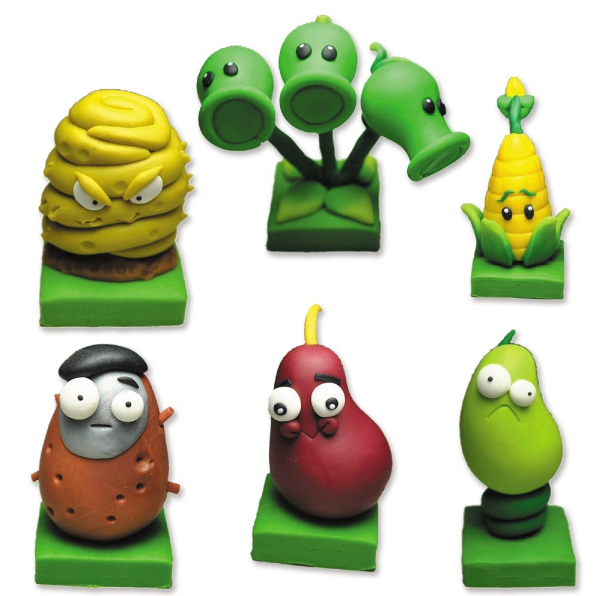 Cheap Plants vs Zombies 2 Series Game Role Figures Polymer