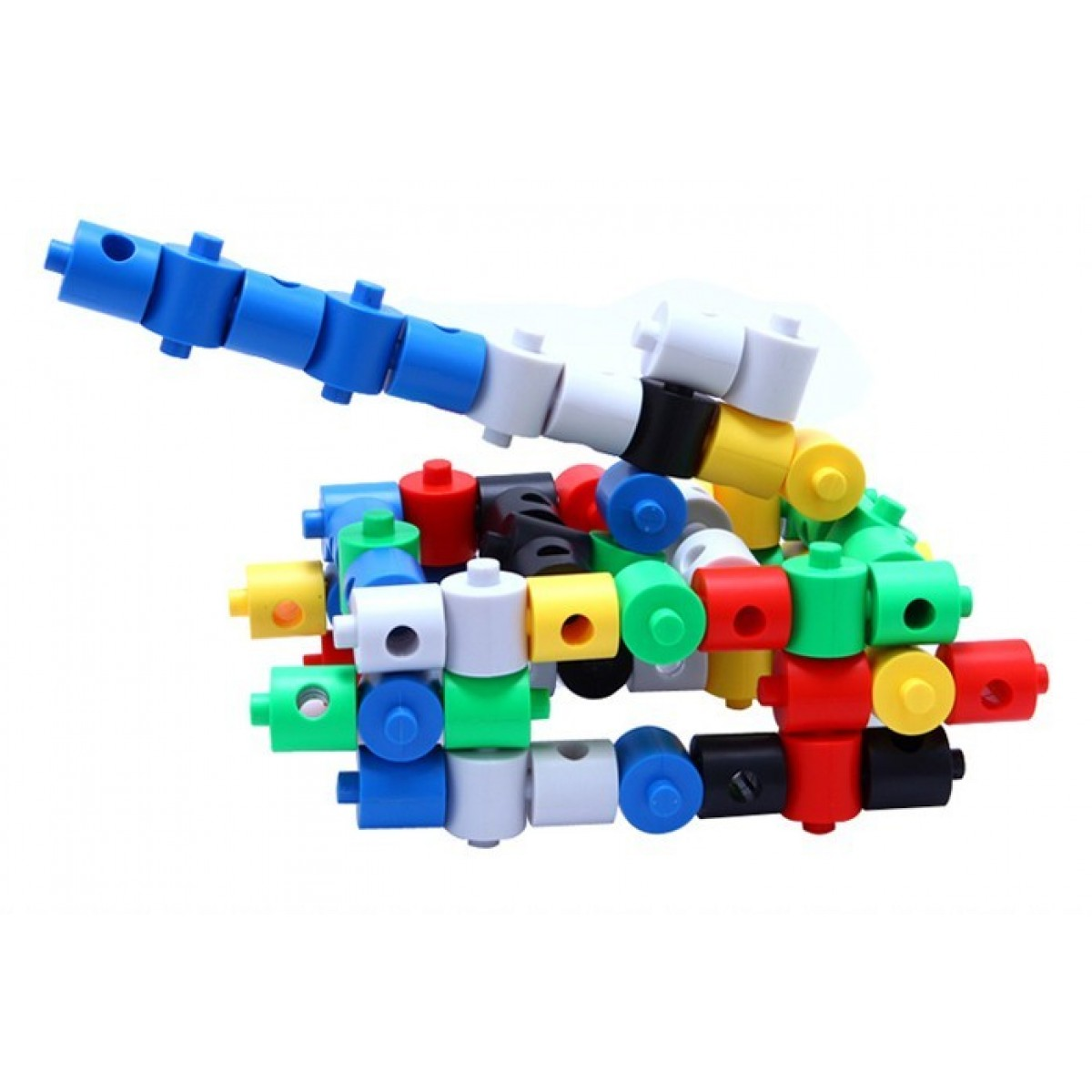 Cheap Small Cylindrical Plastic Building Blocks Toy Sale