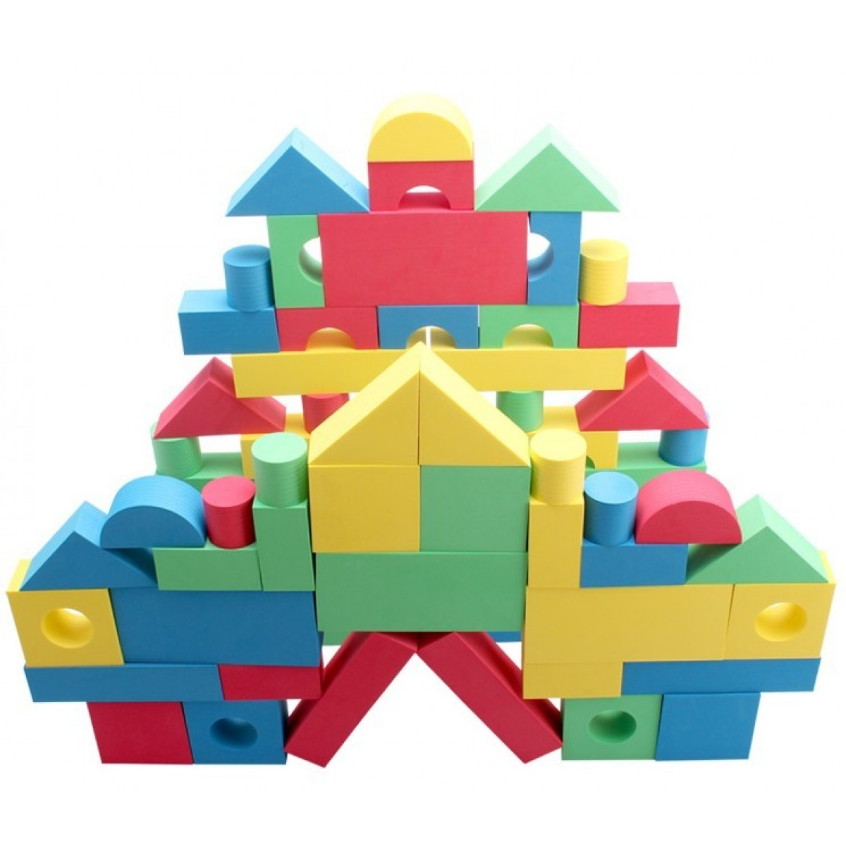 Cheap 68 pcs foam building blocks sale online with free for Styrofoam blocks for building homes