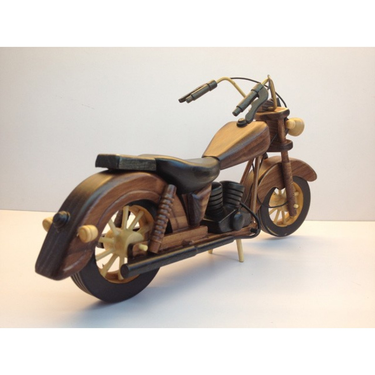Handmade Wooden Home Decorative Novel Vintage Motorbike Model B