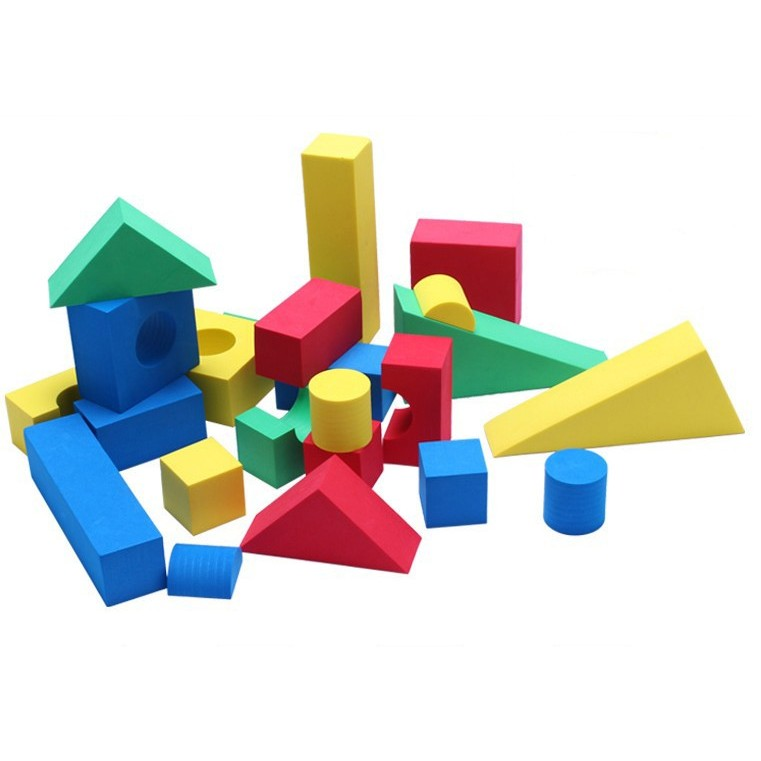Cheap 50 pcs foam building blocks sale online with free for Foam block construction